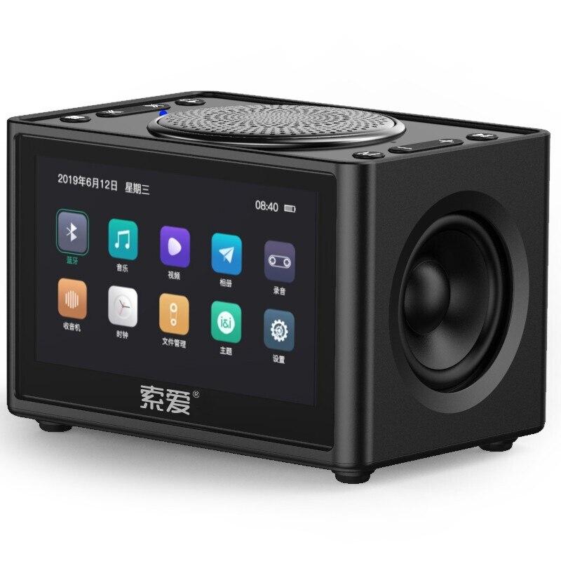 K6 New Wireless Bluetooth Video Speaker Mini Subwoofer Home HD Radio Portable Car Computer Speakers Support Alarm Clock TF USB